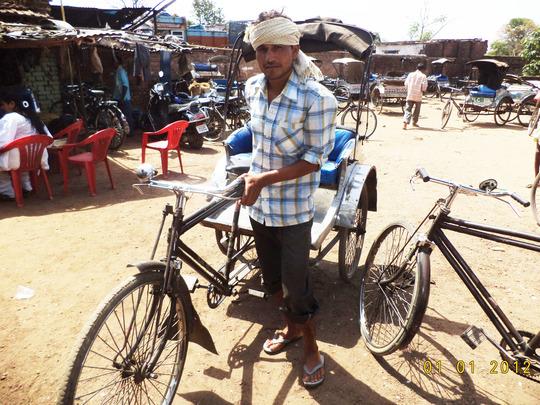 Rickshaw puller at Maitri