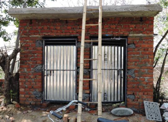 Construction of toilets in Vijay Garage