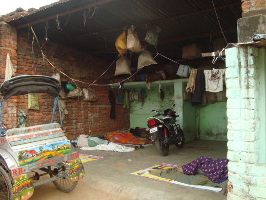 Condition of a rickshaw garage in Ranchi