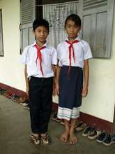 Two students at the Ban Phao School