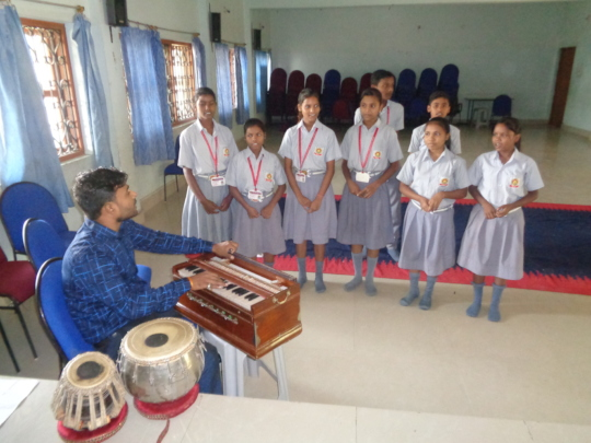 Children learning music