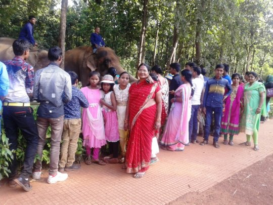 The team in Zoological Park