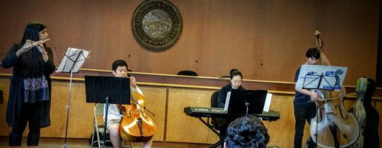 Lina's ensemble performed at Palestine Day