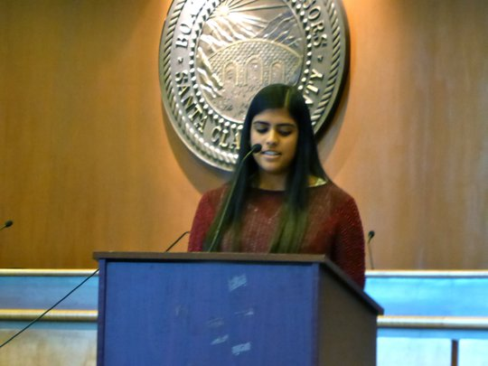 Lina speaking at Palestinian Day