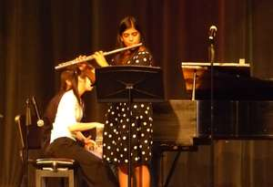 Performing at the benefit concert
