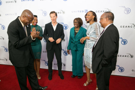 Benedict Cumberbatch with The Onyema Family