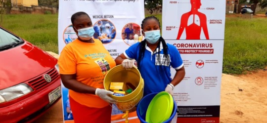 Donating PPE in Nigeria
