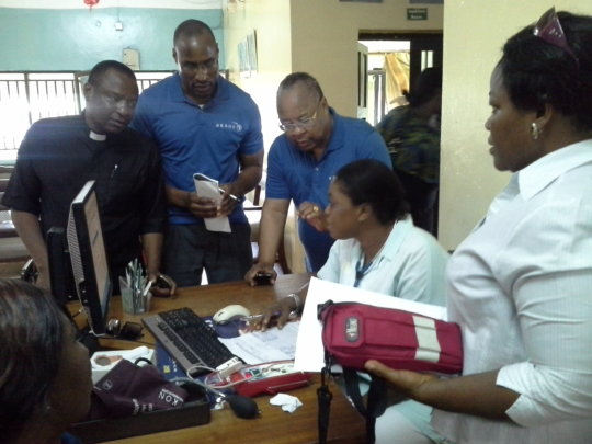 Anemia screening at hospital in Nigeria