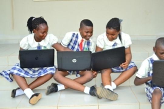 Laptops donated to schoolchildren in Nigeria