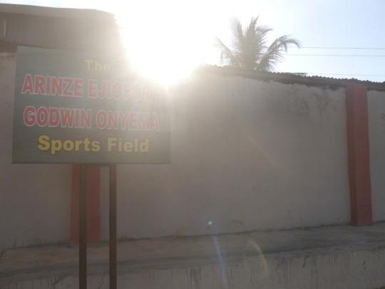 Brightland Academy soccer field sign