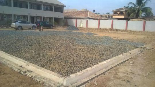 Soccer field under construction
