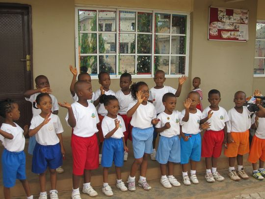 The young students of Brightland Academy, Nigeria