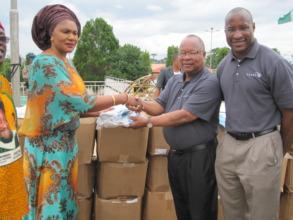 Presentation of safe delivery maternal health kits