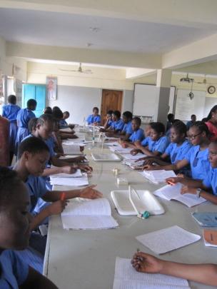 The girls of the Anglican Girls Grammar School