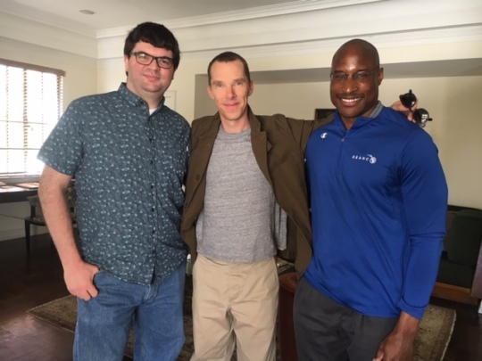 Cumberbatch, Afam Onyema & Omaze campaign winner