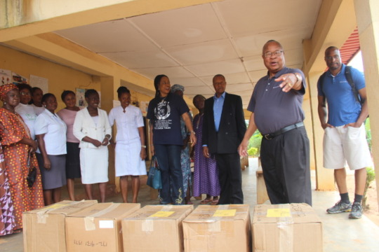 Donation of safe delivery maternal health kits