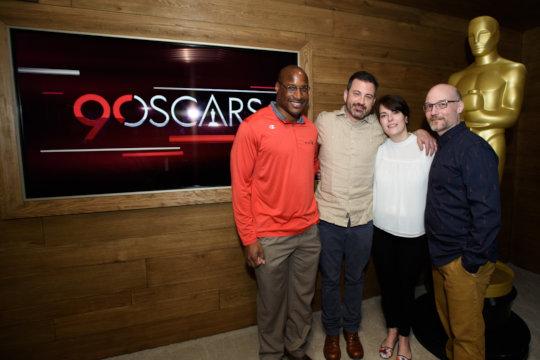 Jimmy Kimmel w/ Afam Onyema and Omaze winners