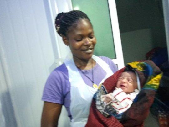 Second baby born at Julia Burke Maternity Center