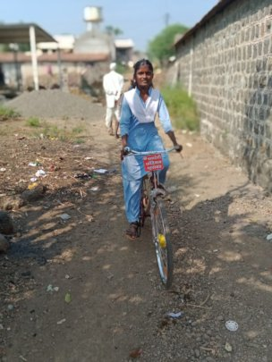 Shivanjali going to school..