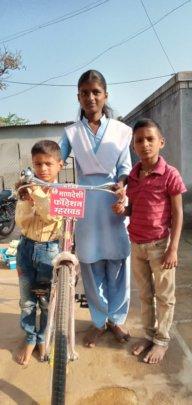 Shivanjali with her bike