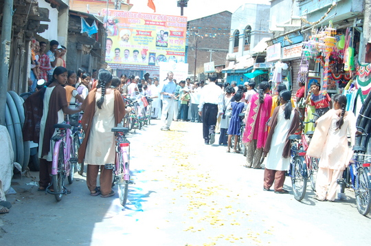 On the occassion of Bicycle Donation program