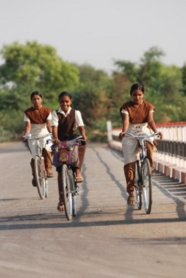 Ashwini's bicycle helps her to continue her education
