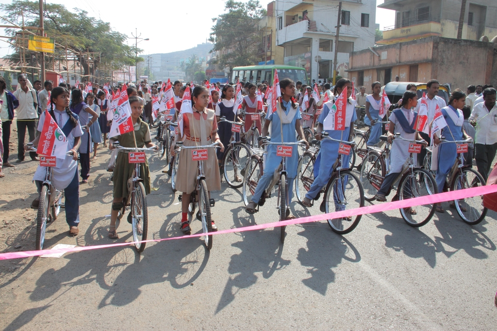100 Bicycles donated on 8th March