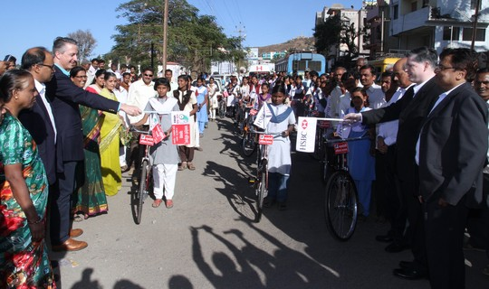 50 Bicycles donated by Mann Deshi