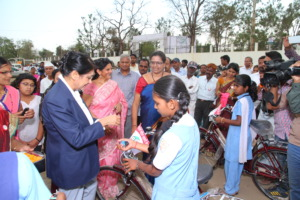 Bicycle donated on the occasion of Womens day