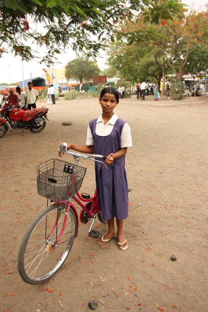 Madhuri Pise with her bike
