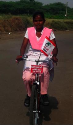 Rajani on Her Bicycle