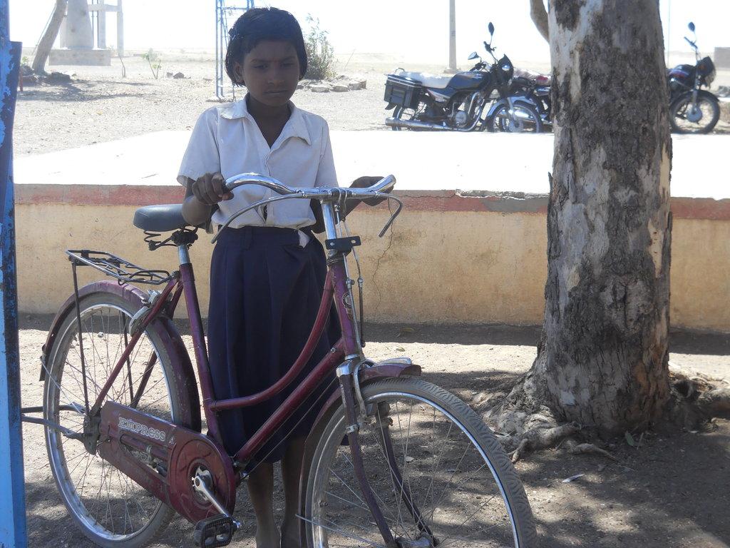Balabai Masal with her bike