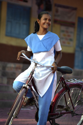 bicycle beneficiary of Mann Deshi
