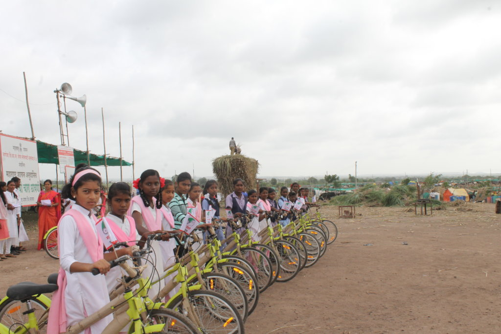 Bicycle Donated to School Going Girls