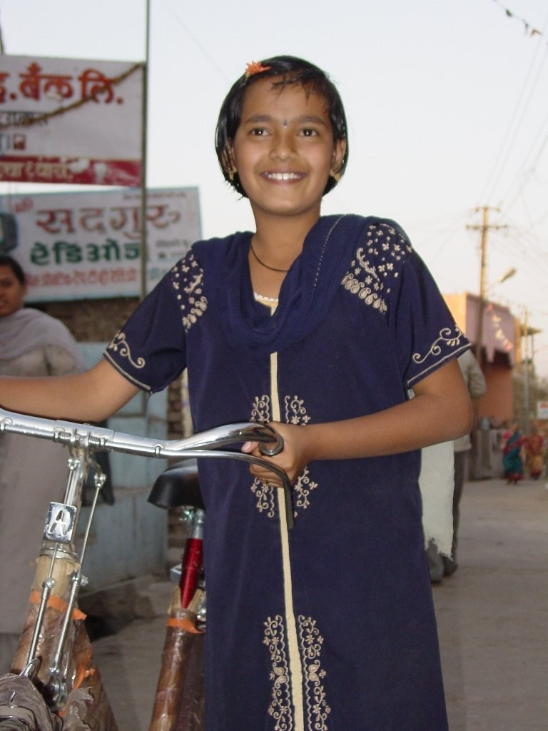 Give a girl a bike: help her to go to school