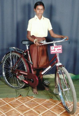 Rupali with her bike