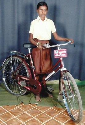 Rupali with her bike