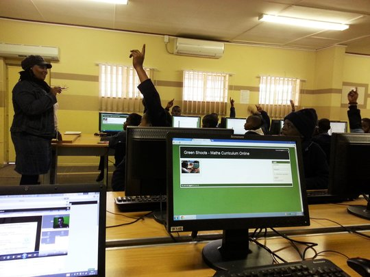 Teacher at Mzamomhle in action