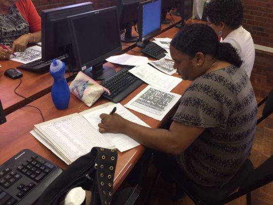 Teachers assessing their data