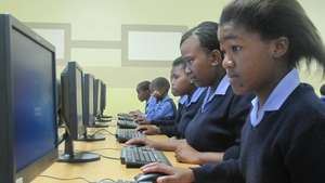 Busy at work in Mzamomhle Primary