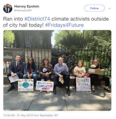 Joining the Youth #Fridays4Future strike in NYC