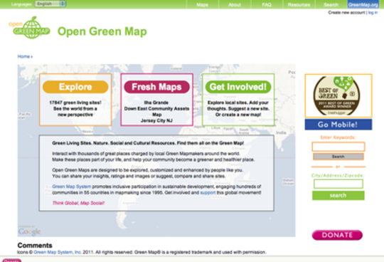 Open Green Map has 200 maps & nearly 18,000 sites