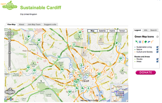 One of Cardiff's Open Green Maps