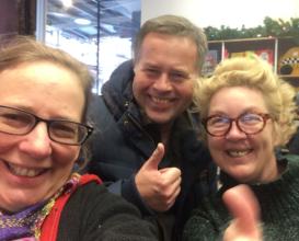 Wendy (left) w/ Copenhagen Mapmakers, Anja & Niels
