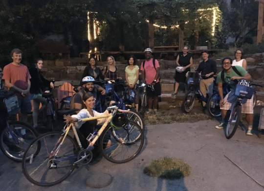 Citi Bike loaned our tour a fleet for Climate Week