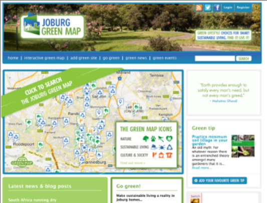 JoburgGreenMap.co.za has embedded a Green Map