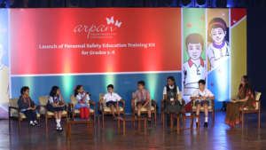 Children's panel at the event