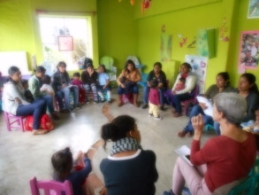 Workshop with mothers