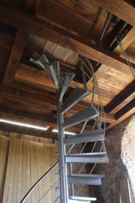 New iron stairs to Katarinka tower