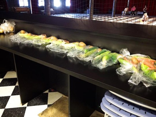 Another batch of produce to feed the hungry.